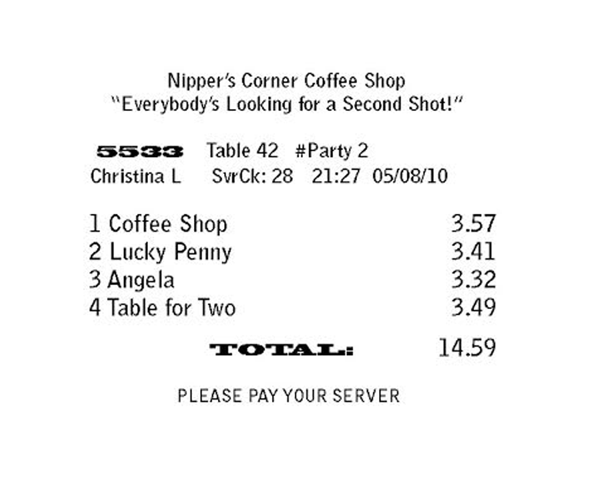 Table for Two CD Label